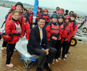 Seb Coe spends time with Sail for a Fiver Legacy Children at the Weymouth and Portland National Sailing Academy © Dorset Media Service 2011